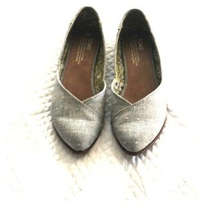 Toms Gray Canvas Flats